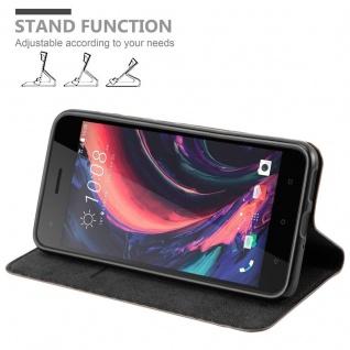 Cadorabo Hülle für HTC Desire 10 PRO in KAFFEE BRAUN - Handyhülle mit Magnetverschluss, Standfunktion und Kartenfach - Case Cover Schutzhülle Etui Tasche Book Klapp Style - Vorschau 4