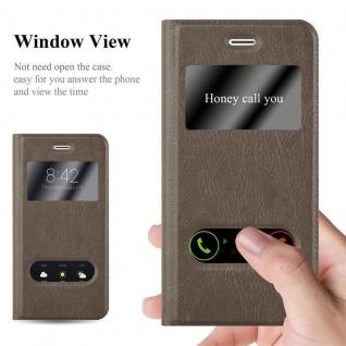 Cadorabo Hülle für Apple iPhone 6 PLUS / iPhone 6S PLUS in STEIN BRAUN ? Handyhülle mit Magnetverschluss, Standfunktion und 2 Sichtfenstern ? Case Cover Schutzhülle Etui Tasche Book Klapp Style - Vorschau 2