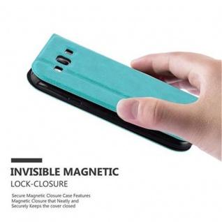 Cadorabo Hülle für Samsung Galaxy S3 / S3 NEO in MINT TÜRKIS - Handyhülle mit Magnetverschluss, Standfunktion und 2 Sichtfenstern - Case Cover Schutzhülle Etui Tasche Book Klapp Style - Vorschau 5