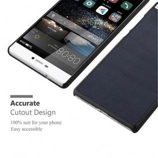 Cadorabo Hülle für Huawei P8 in WOODY BLAU - Hardcase Handyhülle aus Plastik gegen Kratzer und Stöße - Schutzhülle Bumper Ultra Slim Back Case Hard Cover - Vorschau 4