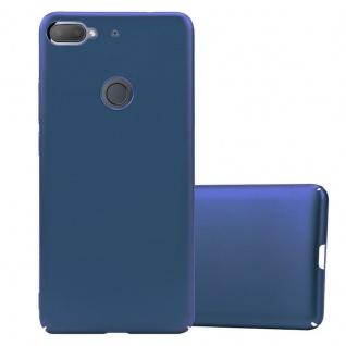 Cadorabo Hülle für HTC Desire 12 PLUS in METALL BLAU Hardcase Handyhülle aus Plastik gegen Kratzer und Stöße Schutzhülle Bumper Ultra Slim Back Case Hard Cover