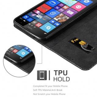 Cadorabo Hülle für Nokia Lumia 1320 in SCHWARZ BRAUN - Handyhülle mit Magnetverschluss, Standfunktion und Kartenfach - Case Cover Schutzhülle Etui Tasche Book Klapp Style - Vorschau 2