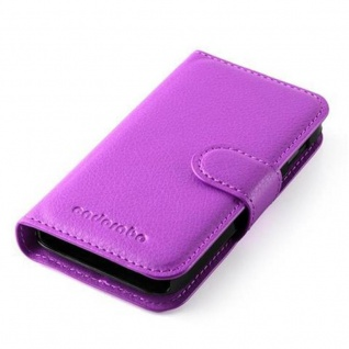 Cadorabo Hülle für Samsung Galaxy ACE 1 in MANGAN VIOLETT - Handyhülle mit Magnetverschluss, Standfunktion und Kartenfach - Case Cover Schutzhülle Etui Tasche Book Klapp Style - Vorschau 3