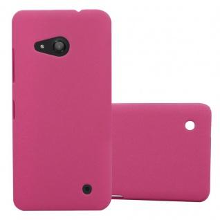 Cadorabo Hülle für Nokia Lumia 550 in FROSTY PINK - Hardcase Handyhülle aus Plastik gegen Kratzer und Stöße - Schutzhülle Bumper Ultra Slim Back Case Hard Cover