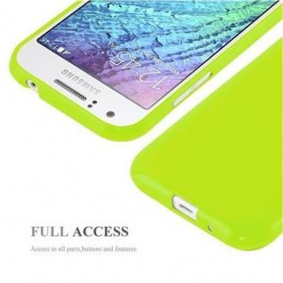 Cadorabo Hülle für Samsung Galaxy J1 2015 in JELLY GRÜN - Handyhülle aus flexiblem TPU Silikon - Silikonhülle Schutzhülle Ultra Slim Soft Back Cover Case Bumper - Vorschau 4