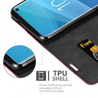 Cadorabo Hülle für Samsung Galaxy S10 in APFEL ROT - Handyhülle mit Magnetverschluss, Standfunktion und Kartenfach - Case Cover Schutzhülle Etui Tasche Book Klapp Style - Vorschau 2