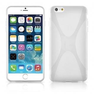 Cadorabo Hülle für Apple iPhone 6 PLUS / iPhone 6S PLUS - Hülle in HALB TRANSPARENT ? Handyhülle aus flexiblem TPU Silikon im X-Line Design - Ultra Slim Soft Backcover Case Bumper