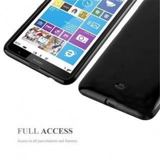 Cadorabo Hülle für Nokia Lumia 1320 in JELLY SCHWARZ - Handyhülle aus flexiblem TPU Silikon - Silikonhülle Schutzhülle Ultra Slim Soft Back Cover Case Bumper - Vorschau 4
