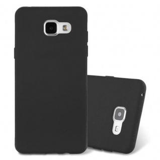 Cadorabo Hülle für Samsung Galaxy A3 2016 in FROST SCHWARZ - Handyhülle aus flexiblem TPU Silikon - Silikonhülle Schutzhülle Ultra Slim Soft Back Cover Case Bumper