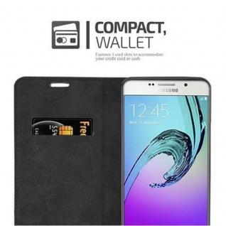 Cadorabo Hülle für Samsung Galaxy A7 2016 in NACHT SCHWARZ - Handyhülle mit Magnetverschluss, Standfunktion und Kartenfach - Case Cover Schutzhülle Etui Tasche Book Klapp Style - Vorschau 5