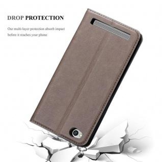 Cadorabo Hülle für Xiaomi RedMi 5A in KAFFEE BRAUN - Handyhülle mit Magnetverschluss, Standfunktion und Kartenfach - Case Cover Schutzhülle Etui Tasche Book Klapp Style - Vorschau 5