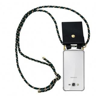 Cadorabo Handy Kette für Samsung Galaxy GRAND PRIME in CAMOUFLAGE - Silikon Necklace Umhänge Hülle mit Gold Ringen, Kordel Band Schnur und abnehmbarem Etui ? Schutzhülle