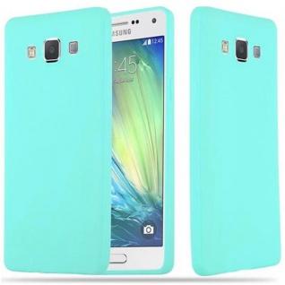Cadorabo Hülle für Samsung Galaxy A5 2015 in CANDY BLAU - Handyhülle aus flexiblem TPU Silikon - Silikonhülle Schutzhülle Ultra Slim Soft Back Cover Case Bumper