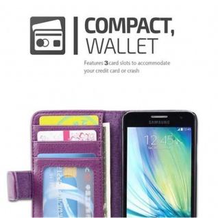 Cadorabo Hülle für Samsung Galaxy A3 2015 in BORDEAUX LILA - Handyhülle mit Magnetverschluss und 3 Kartenfächern - Case Cover Schutzhülle Etui Tasche Book Klapp Style - Vorschau 3