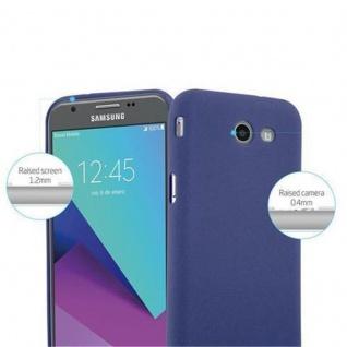 Cadorabo Hülle für Samsung Galaxy J3 2017 US Version in FROST DUNKEL BLAU - Handyhülle aus flexiblem TPU Silikon - Silikonhülle Schutzhülle Ultra Slim Soft Back Cover Case Bumper - Vorschau 2