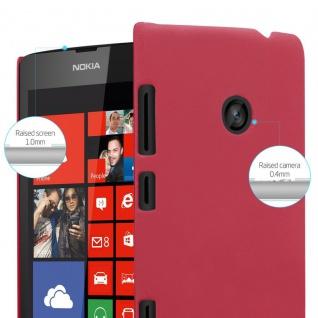 Cadorabo Hülle für Nokia Lumia 520 in FROSTY ROT - Hardcase Handyhülle aus Plastik gegen Kratzer und Stöße - Schutzhülle Bumper Ultra Slim Back Case Hard Cover - Vorschau 4