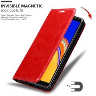 Cadorabo Hülle für Samsung Galaxy A6S in APFEL ROT Handyhülle mit Magnetverschluss, Standfunktion und Kartenfach Case Cover Schutzhülle Etui Tasche Book Klapp Style - Vorschau 3