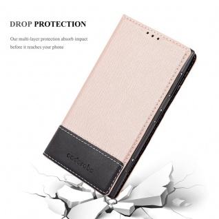 Cadorabo Hülle für Nokia Lumia 1020 in ROSÉ GOLD SCHWARZ ? Handyhülle mit Magnetverschluss, Standfunktion und Kartenfach ? Case Cover Schutzhülle Etui Tasche Book Klapp Style - Vorschau 5