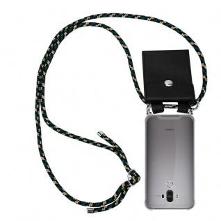 Cadorabo Handy Kette für Huawei MATE 9 in CAMOUFLAGE Silikon Necklace Umhänge Hülle mit Silber Ringen, Kordel Band Schnur und abnehmbarem Etui Schutzhülle