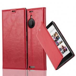 Cadorabo Hülle für Nokia Lumia 1520 in APFEL ROT - Handyhülle mit Magnetverschluss, Standfunktion und Kartenfach - Case Cover Schutzhülle Etui Tasche Book Klapp Style