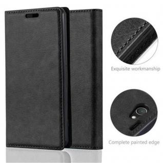 Cadorabo Hülle für Sony Xperia Z1 COMPACT in NACHT SCHWARZ - Handyhülle mit Magnetverschluss, Standfunktion und Kartenfach - Case Cover Schutzhülle Etui Tasche Book Klapp Style - Vorschau 2