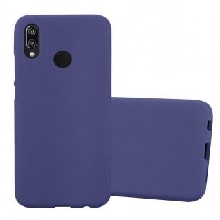 Cadorabo Hülle für Huawei P20 LITE in FROST DUNKEL BLAU Handyhülle aus flexiblem TPU Silikon Silikonhülle Schutzhülle Ultra Slim Soft Back Cover Case Bumper