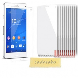 Cadorabo Displayschutzfolien für Sony Xperia Z3 COMPACT - Schutzfolien in HIGH CLEAR ? 10 Stück hochtransparenter Schutzfolien gegen Staub, Schmutz und Kratzer