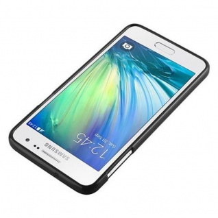 Cadorabo Hülle für Samsung Galaxy A3 2015 in JELLY SCHWARZ - Handyhülle aus flexiblem TPU Silikon - Silikonhülle Schutzhülle Ultra Slim Soft Back Cover Case Bumper - Vorschau 4