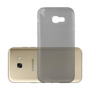 Cadorabo Hülle für Samsung Galaxy A5 2017 in TRANSPARENT SCHWARZ - Handyhülle aus flexiblem TPU Silikon - Silikonhülle Schutzhülle Ultra Slim Soft Back Cover Case Bumper