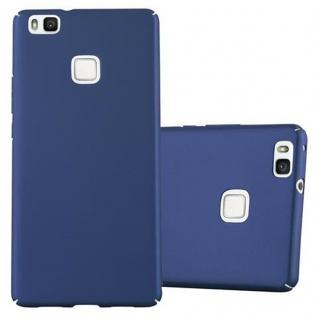 Cadorabo Hülle für Huawei P9 LITE in METALL BLAU - Hardcase Handyhülle aus Plastik gegen Kratzer und Stöße - Schutzhülle Bumper Ultra Slim Back Case Hard Cover