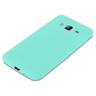Cadorabo Hülle für Samsung Galaxy J3 2015 in CANDY BLAU - Handyhülle aus flexiblem TPU Silikon - Silikonhülle Schutzhülle Ultra Slim Soft Back Cover Case Bumper - Vorschau 4