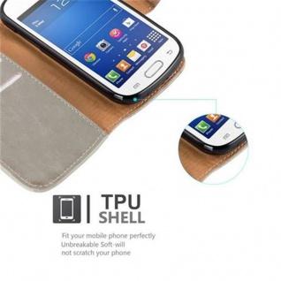 Cadorabo Hülle für Samsung Galaxy TREND LITE in CAPPUCCINO BRAUN ? Handyhülle mit Magnetverschluss, Standfunktion und Kartenfach ? Case Cover Schutzhülle Etui Tasche Book Klapp Style - Vorschau 4