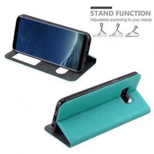 Cadorabo Hülle für Samsung Galaxy S8 in MINT TÜRKIS - Handyhülle mit Magnetverschluss, Standfunktion und 2 Sichtfenstern - Case Cover Schutzhülle Etui Tasche Book Klapp Style - Vorschau 5