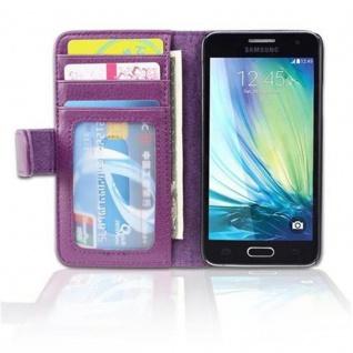 Cadorabo Hülle für Samsung Galaxy A3 2015 in BORDEAUX LILA - Handyhülle mit Magnetverschluss und 3 Kartenfächern - Case Cover Schutzhülle Etui Tasche Book Klapp Style - Vorschau 4