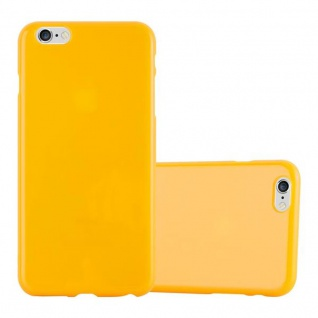 Cadorabo Hülle für Apple iPhone 6 PLUS / iPhone 6S PLUS in JELLY GELB Handyhülle aus flexiblem TPU Silikon Silikonhülle Schutzhülle Ultra Slim Soft Back Cover Case Bumper