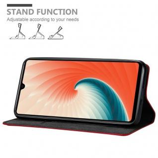 Cadorabo Hülle für Huawei MATE 20 in APFEL ROT Handyhülle mit Magnetverschluss, Standfunktion und Kartenfach Case Cover Schutzhülle Etui Tasche Book Klapp Style - Vorschau 4