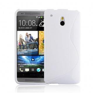Cadorabo Hülle für HTC ONE M4 MINI (1.Gen.) in MAGNESIUM WEIß - Handyhülle aus flexiblem TPU Silikon - Silikonhülle Schutzhülle Ultra Slim Soft Back Cover Case Bumper