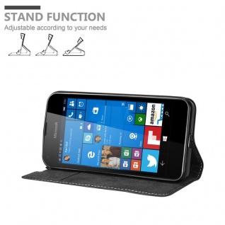 Cadorabo Hülle für Nokia Lumia 550 in SCHWARZ BRAUN ? Handyhülle mit Magnetverschluss, Standfunktion und Kartenfach ? Case Cover Schutzhülle Etui Tasche Book Klapp Style - Vorschau 3