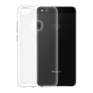 Cadorabo Hülle für Huawei P10 LITE in VOLL TRANSPARENT - Handyhülle aus flexiblem TPU Silikon - Silikonhülle Schutzhülle Ultra Slim Soft Back Cover Case Bumper