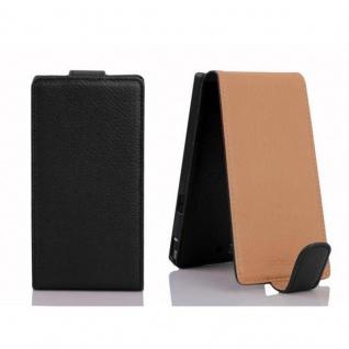 Cadorabo Hülle für Sony Xperia Z in OXID SCHWARZ - Handyhülle im Flip Design aus strukturiertem Kunstleder - Case Cover Schutzhülle Etui Tasche Book Klapp Style - Vorschau 2