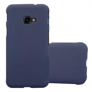 Cadorabo Hülle für Samsung Galaxy XCover 4 in FROSTY BLAU - Hardcase Handyhülle aus Plastik gegen Kratzer und Stöße - Schutzhülle Bumper Ultra Slim Back Case Hard Cover