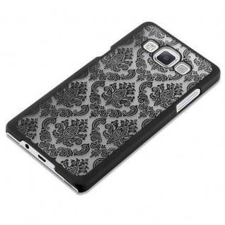 Samsung Galaxy A5 2015 Hardcase Hülle in SCHWARZ von Cadorabo - Blumen Paisley Henna Design Schutzhülle ? Handyhülle Bumper Back Case Cover - Vorschau 3
