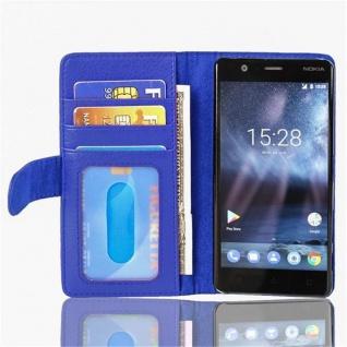 Cadorabo Hülle für Nokia 3 2017 in NEPTUN BLAU ? Handyhülle mit Magnetverschluss und 3 Kartenfächern ? Case Cover Schutzhülle Etui Tasche Book Klapp Style