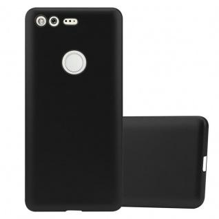 Cadorabo Hülle für Google Pixel in METALLIC SCHWARZ - Handyhülle aus flexiblem TPU Silikon - Silikonhülle Schutzhülle Ultra Slim Soft Back Cover Case Bumper