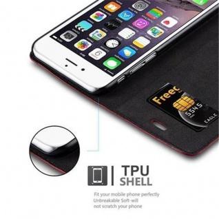 Cadorabo Hülle für Apple iPhone 6 PLUS / iPhone 6S PLUS in APFEL ROT - Handyhülle mit Magnetverschluss, Standfunktion und Kartenfach - Case Cover Schutzhülle Etui Tasche Book Klapp Style - Vorschau 4
