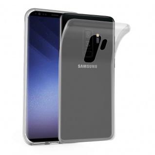 Cadorabo Hülle für Samsung Galaxy S9 PLUS in VOLL TRANSPARENT - Handyhülle aus flexiblem TPU Silikon - Silikonhülle Schutzhülle Ultra Slim Soft Back Cover Case Bumper