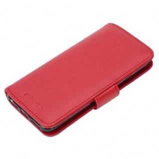 Cadorabo Hülle für Apple iPhone 7 / iPhone 7S / iPhone 8 in INFERNO ROT ? Handyhülle mit Magnetverschluss und 3 Kartenfächern ? Case Cover Schutzhülle Etui Tasche Book Klapp Style - Vorschau 5