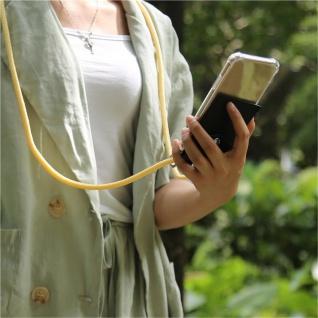 Cadorabo Handy Kette für OnePlus 5 in CREME BEIGE - Silikon Necklace Umhänge Hülle mit Silber Ringen, Kordel Band Schnur und abnehmbarem Etui - Schutzhülle - Vorschau 3