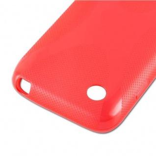 Cadorabo Hülle für LG L40 (1. Sim-Version) in INFERNO ROT - Handyhülle aus flexiblem TPU Silikon - Silikonhülle Schutzhülle Ultra Slim Soft Back Cover Case Bumper - Vorschau 4