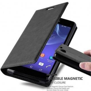 Cadorabo Hülle für Sony Xperia Z1 COMPACT in NACHT SCHWARZ - Handyhülle mit Magnetverschluss, Standfunktion und Kartenfach - Case Cover Schutzhülle Etui Tasche Book Klapp Style - Vorschau 1